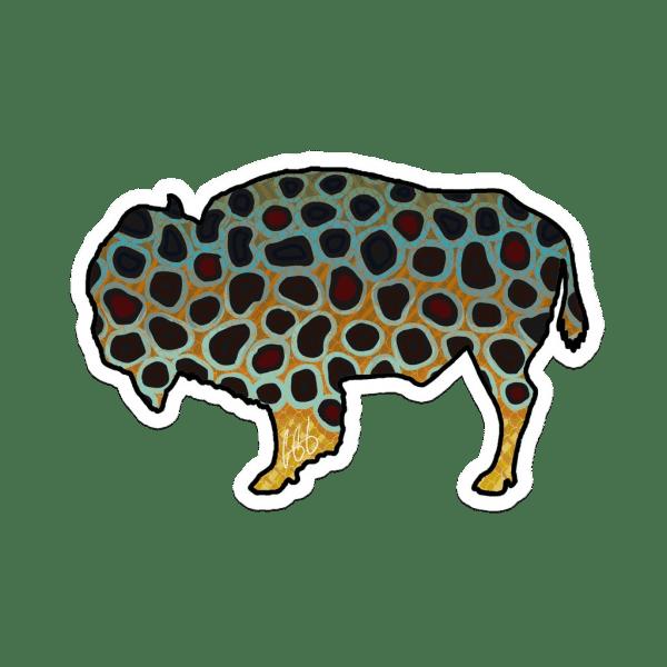 Casey Underwood Wyoming Bison Brown Trout Sticker