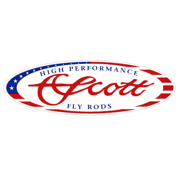 Scott Fly Rods American Flag Logo Decal