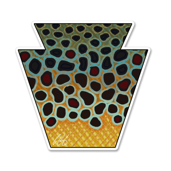 Casey Underwood Pennsylvania Brown Trout Sticker
