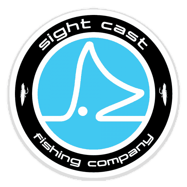 Sight Cast Salt Water Fly Fishing Circle Logo Sticker
