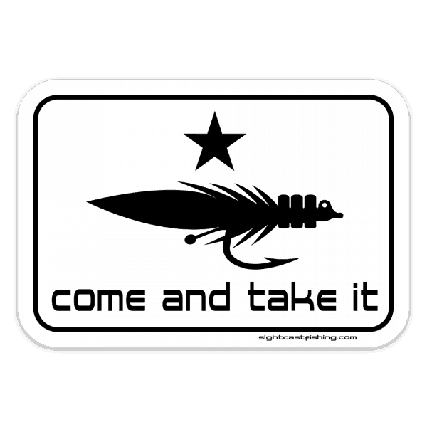 Sight Cast Salt Water Fly Fishing Come And Take It Sticker