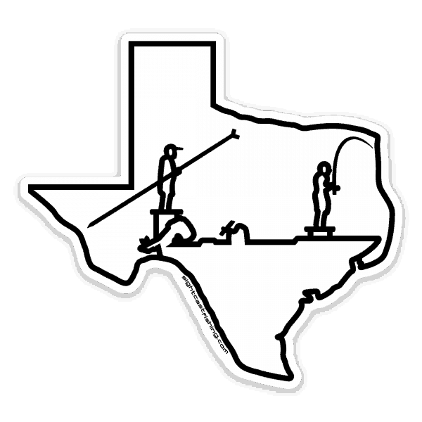 Sight Cast Salt Water Fly Fishing Texas Skiff Sticker