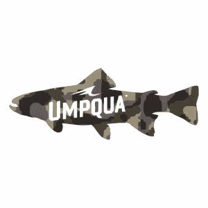 Umpqua Feather Merchants Camo Trout Sticker (Large)