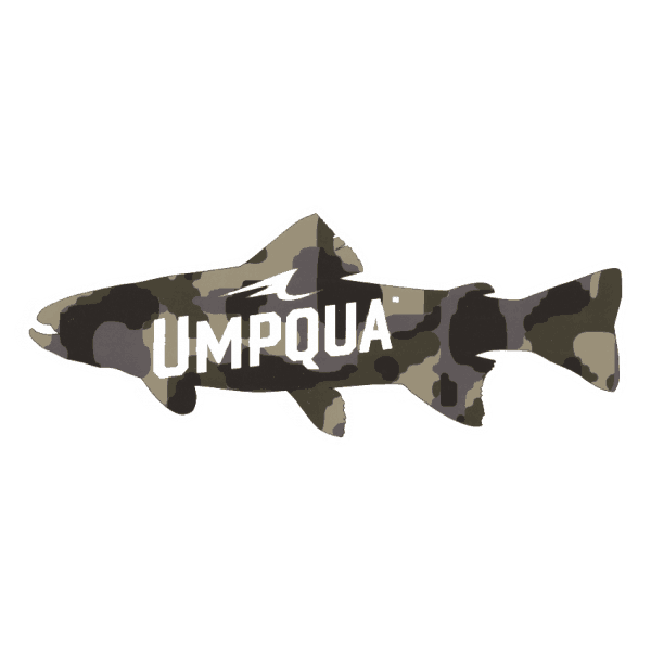 Umpqua Feather Merchants Camo Trout Sticker (Large)