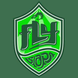 Fly Slaps Shield Logo Green
