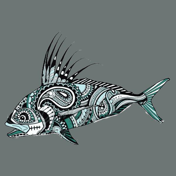 Andrea Larko Roosterfish Sticker