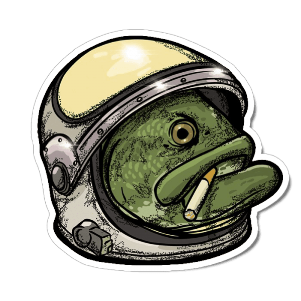 Richard Blanco Basstronaut Sticker