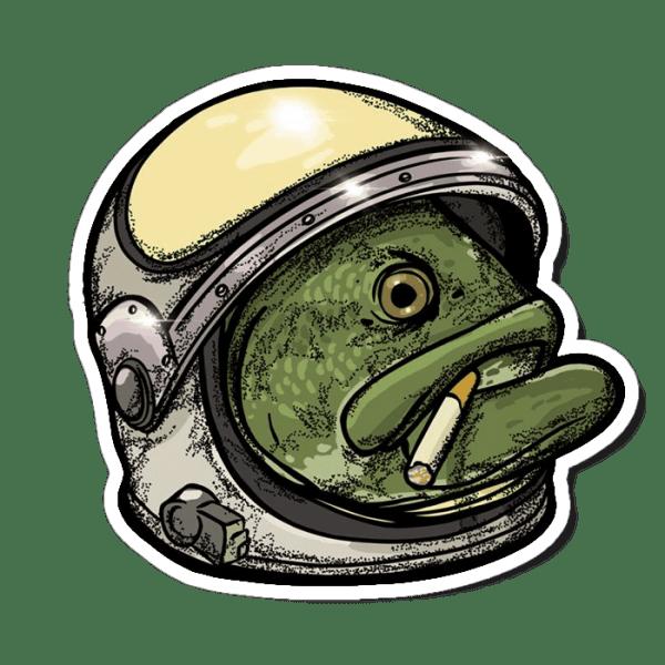 Richard Blanco Basstronaut Sticker