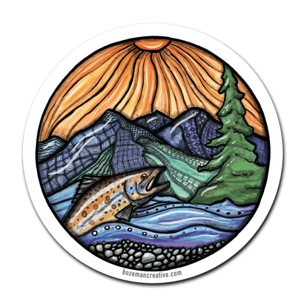 Bozeman Creative Trout Creative Fly fishing Sticker