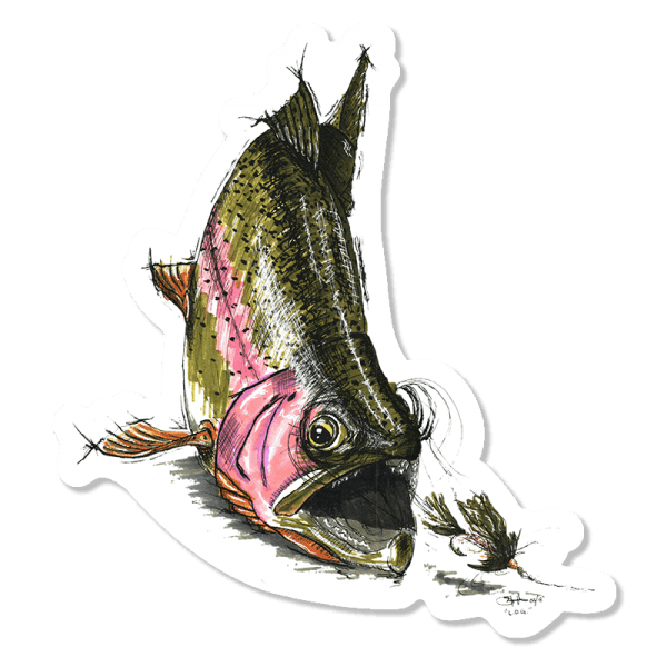 Cory Street Rainbow Trout Sticker