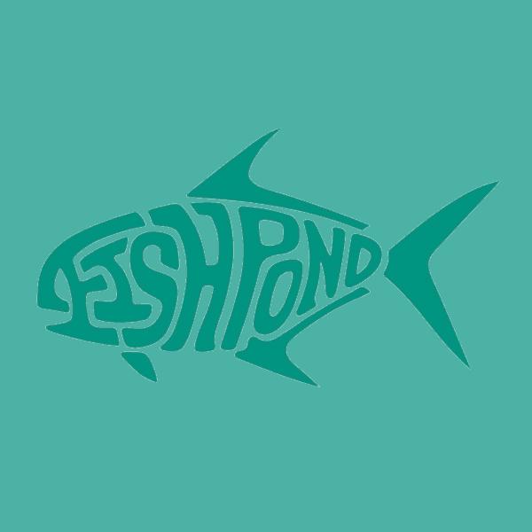 Fishpond Diecut Permit Sticker Blue