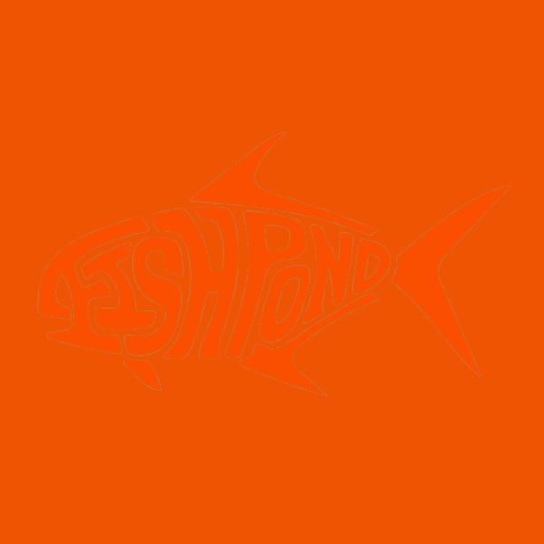 Fishpond Die Cut Permit Sticker Orange