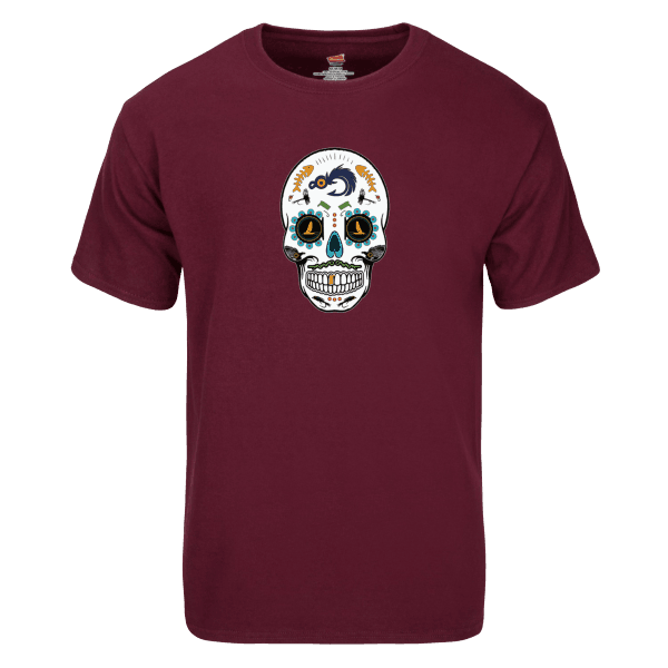 Fly Slaps Fly Fishing Fresh Water Sugar Skull TShirt