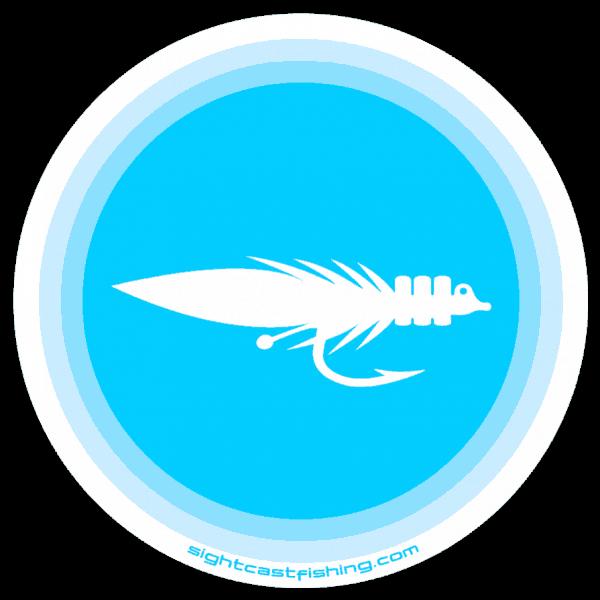 Sight Cast Salt Water Kwan Fly Round Sticker