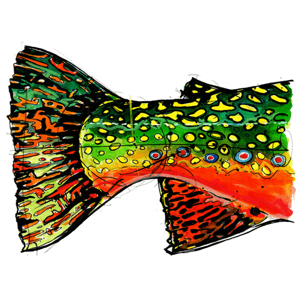 Ryan Keene Brook Trout Tail Sticker