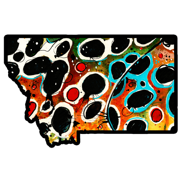 Ryan Keene Montana Brown Trout Pattern Sticker