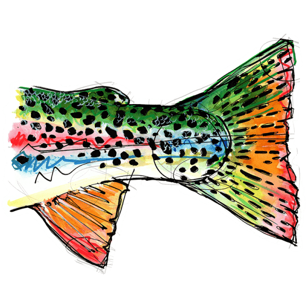 Ryan Keene Rainbow Tail Sticker