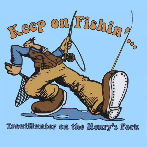 TroutHunter Keep On Fishin Sticker