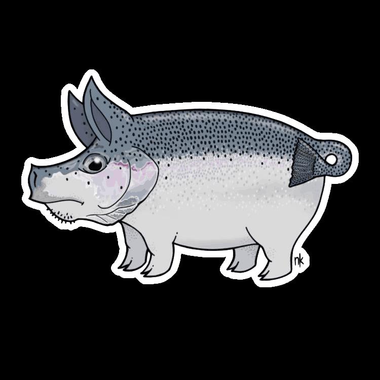nate karnes pig steelhead sticker