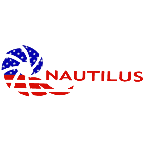Nautilus USA Flag Logo Sticker