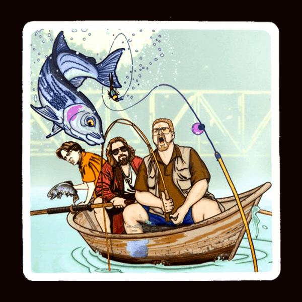 Stripn Flywear Deadbeats Lebowski Fishing Sticker