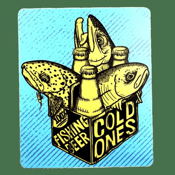 Stripn Flywear Fishing Beer Sticker