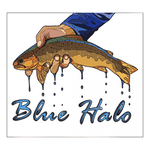 Blue Halo Brown Trout Sticker Large