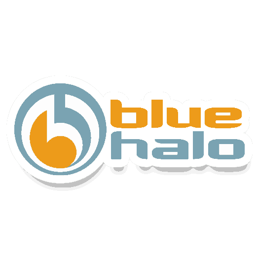 Blue Halo Fly Rods Horizontal Logo Sticker