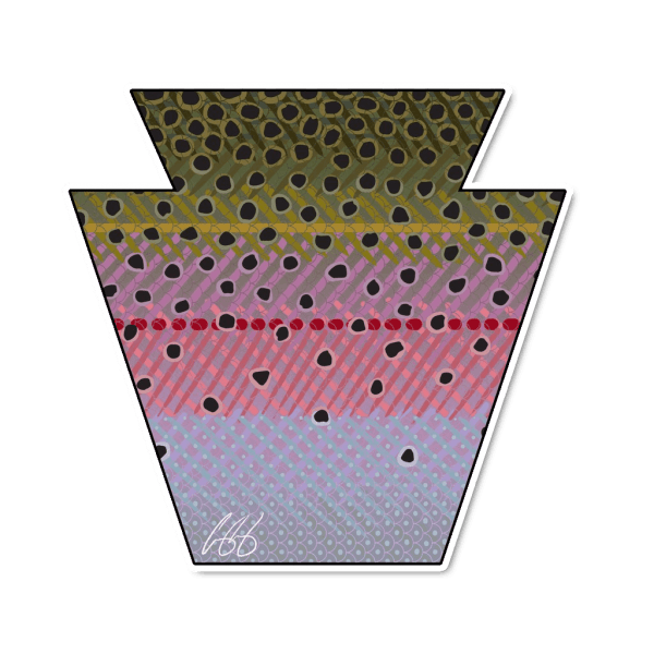 Casey Underwood Pennsylvania Rainbow Trout Sticker