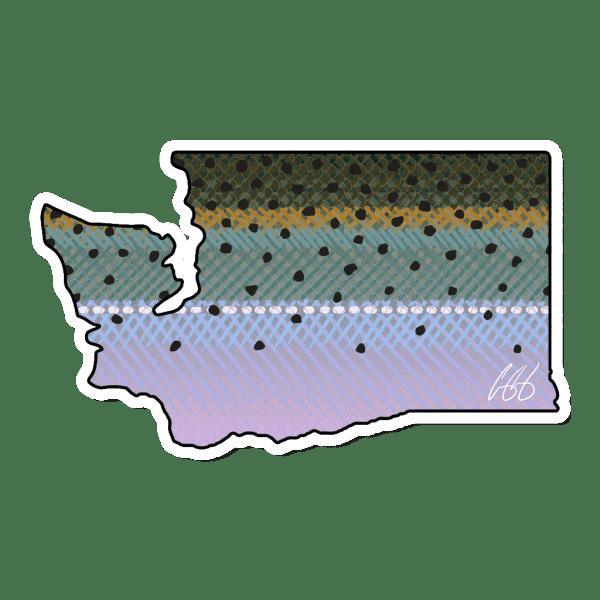 Casey Underwood Washington Steelhead Sticker