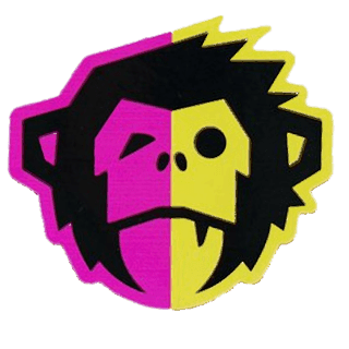 Howler Brothers El Mono Pink and Yellow Mutation Sticker (Small)