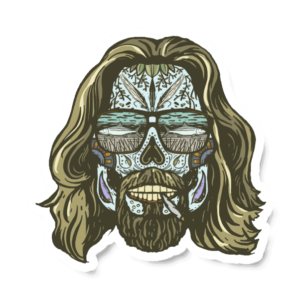 Richard Blanco Dia Del Dudarina Lebowski Sticker