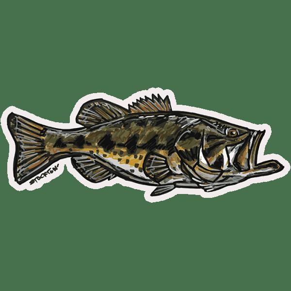Fly Slaps Matthew Stockton Largemouth Bass Sticker
