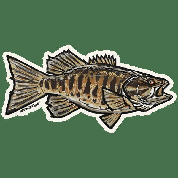 Fly Slaps Matthew Stockton Small Mouth Bass Sticker