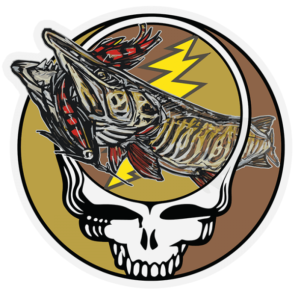 Fly Slaps Steal Your Face Stockton Musky Sticker