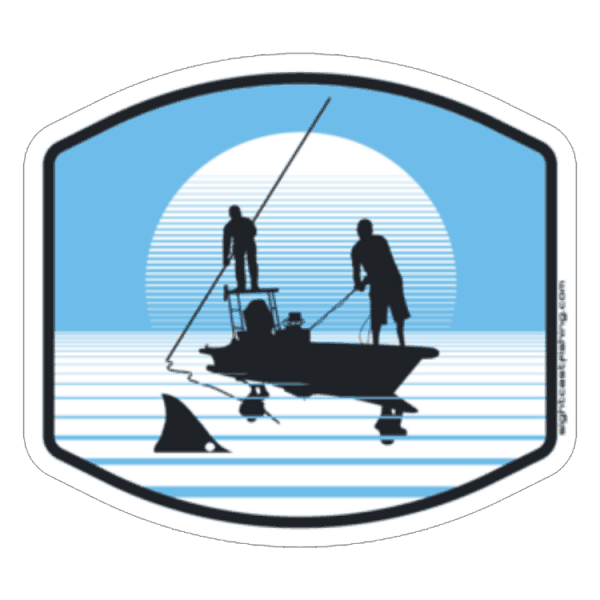 Sight Cast Redfish Poling Skiff Fly Fishing Sticker