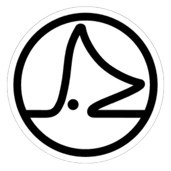 Sight Cast Redfish Tail Fly Fishing Circle Logo Sticker