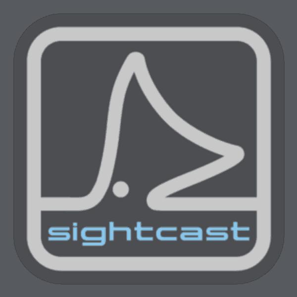 Sight Cast Sight Cast Redfish Tail Gray Square Sticker