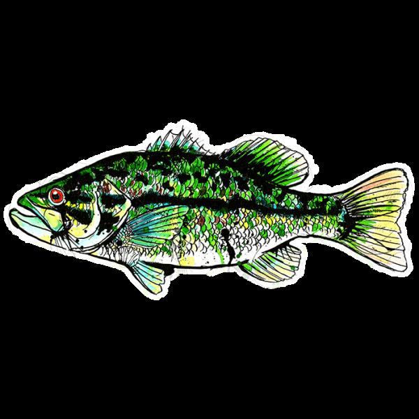 Fly Slaps Ryan Keene Smallmouth Bass Sticker