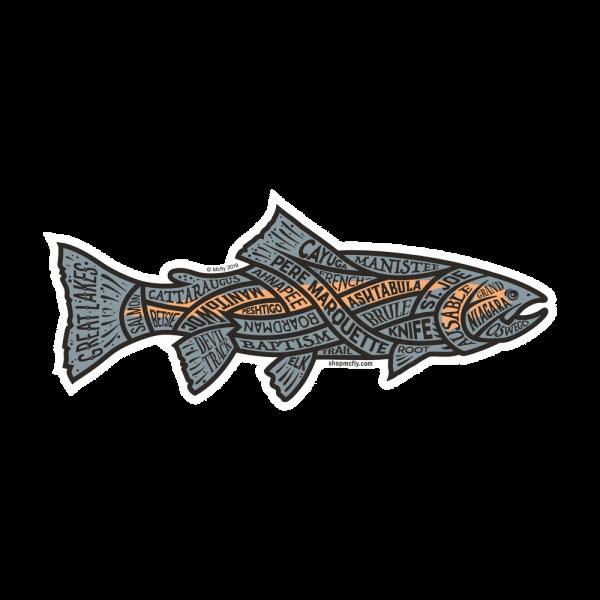 McFly Great Lakes Steelhead Sticker