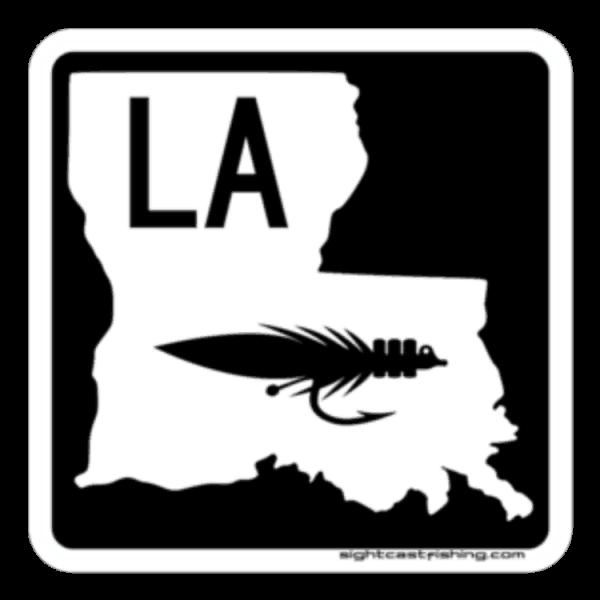 Sight Cast Fishing Company Louisiana Highway Fly Sticker