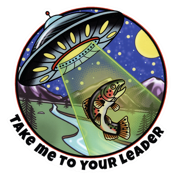 DrewLR Take Me To Your Leader Sticker