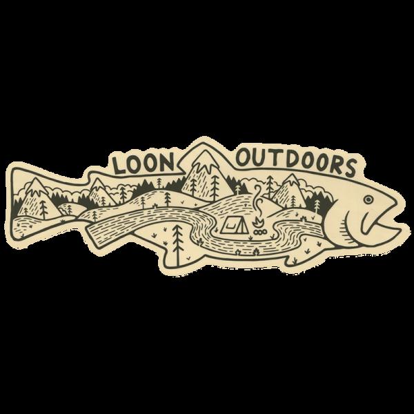 Loon X David Rollyn Landscape Trout Sticker
