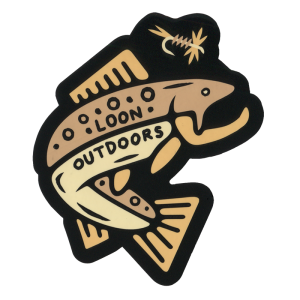 Loon X David Rollyn Trout Sticker