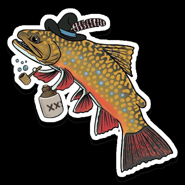 nate karnes hillbilly brook trout decal